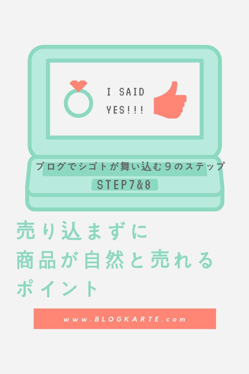 【ブログ集客ステップ7・8】売り込まずに商品が自然と売れるポイント